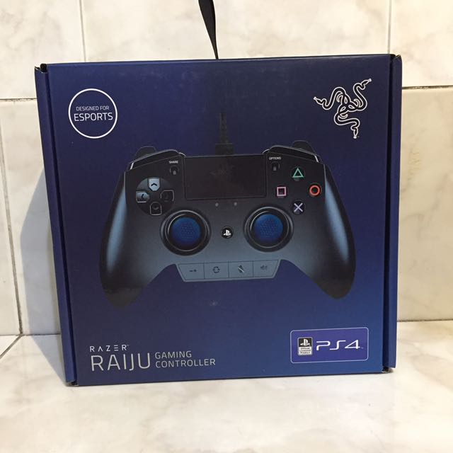 Razer Raiju Official Playstation 4 Gaming Controller (PS4 Controller with Four Programmable Buttons, Quick Control Panel & Ergonomics Optimized for Esports)