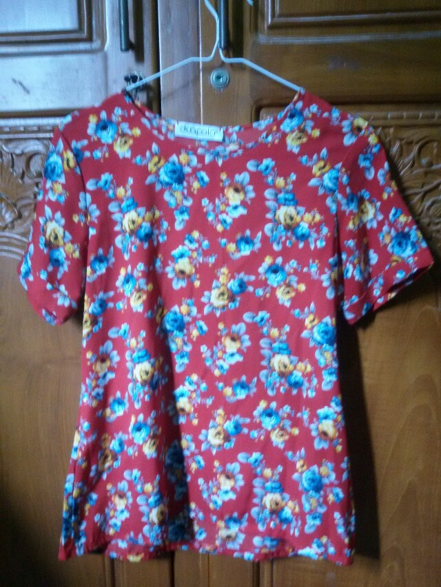 Red Flowery Blouse