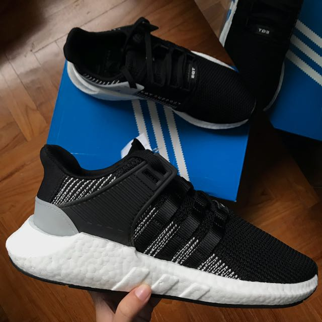 low priced d1f0f 7b2cd SALE 🎉 adidas EQT Support 93/17 Core Black/Footwear White ...