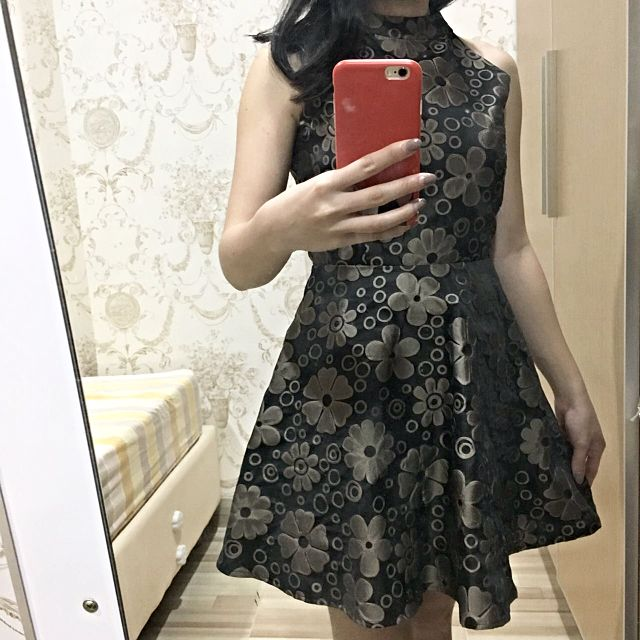 Self Manufactured Flower Flare Dress