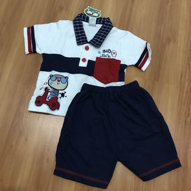 Setelan baju anak cowo