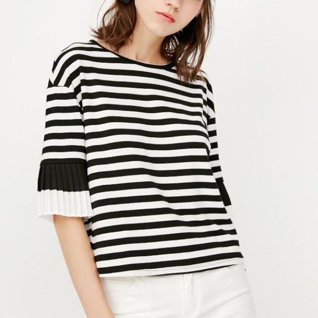 Stripe Fift Sleeve Top