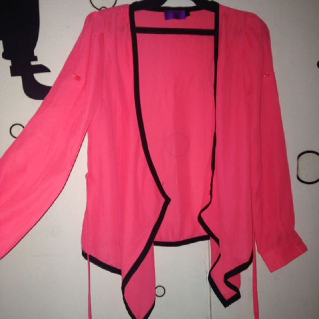 Tantrums Fuschia Pink Soft Blazer