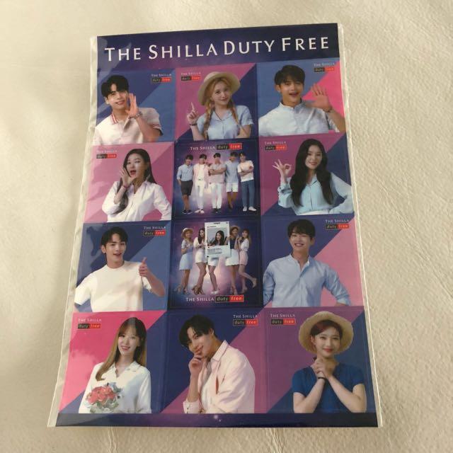 The Shilla Duty Free Concert Stickers
