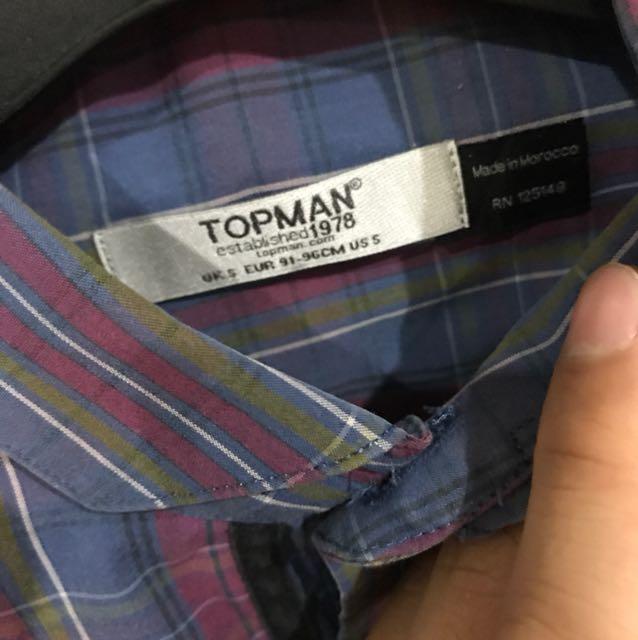 topman flannel size S