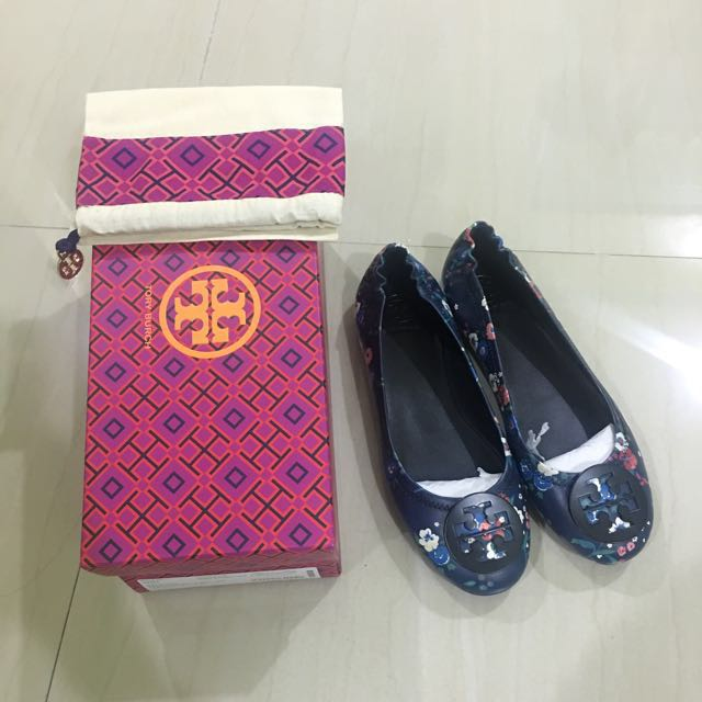a5028c235 TORY BURCH Minnie Travel Ballet With Logo Printed Nappa Leather ...
