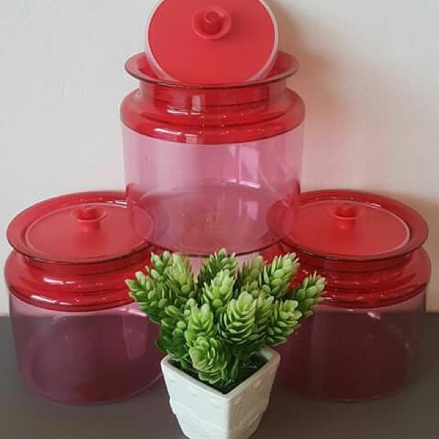 Tupperware counterpart red (3)