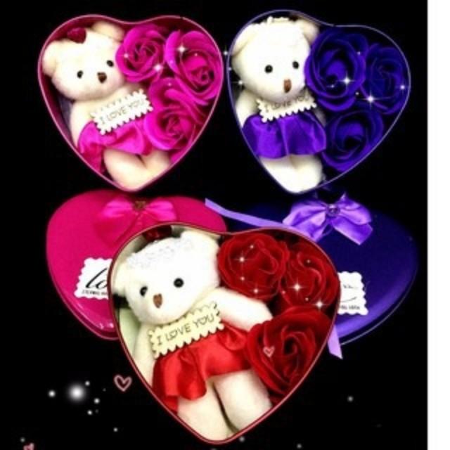 Valentines gift soap flower
