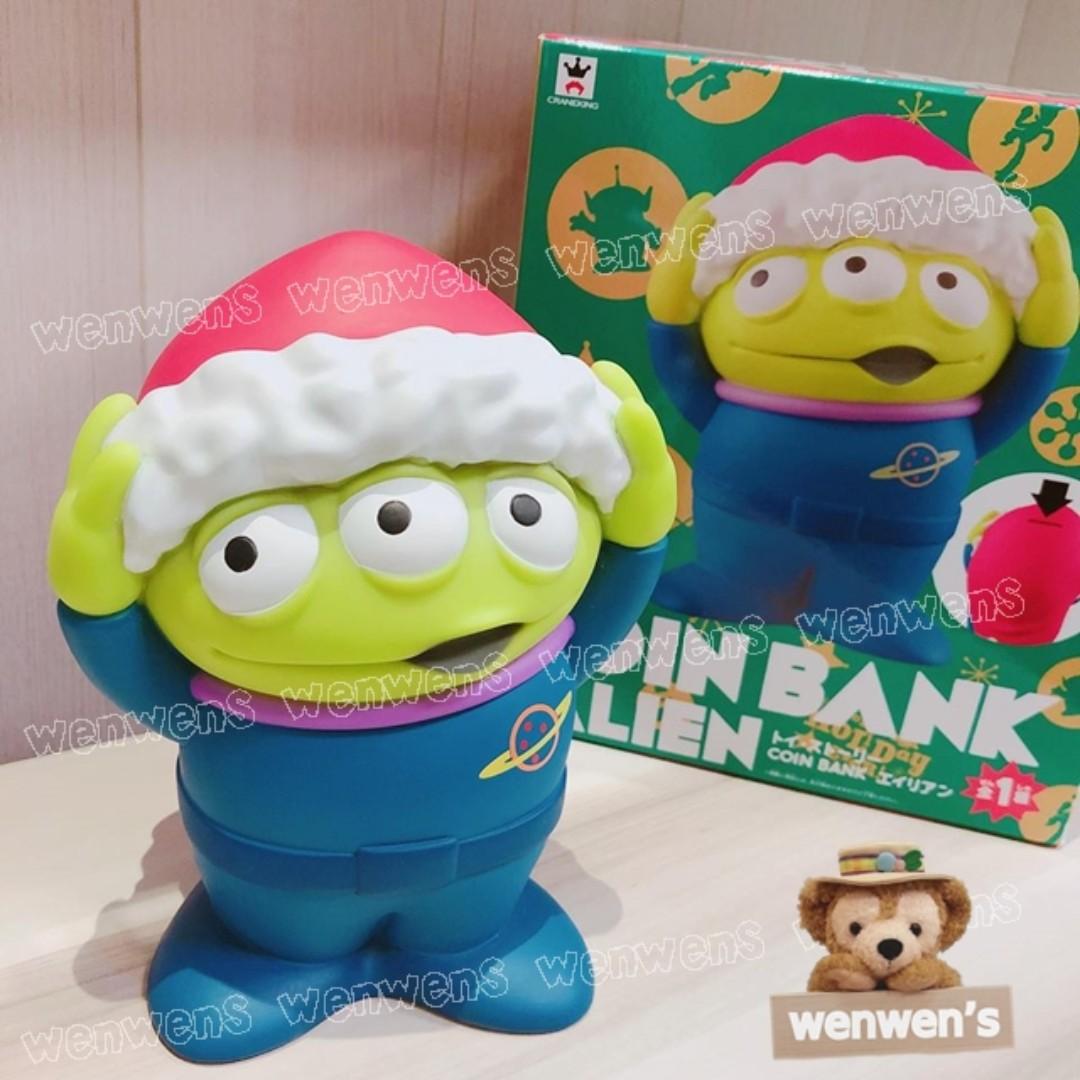 【Wenwens】日版 迪士尼 玩具總動員 三眼怪 存錢筒 皮克斯 聖誕帽 聖誕節 限定款 儲錢筒 儲金 玩具 公仔