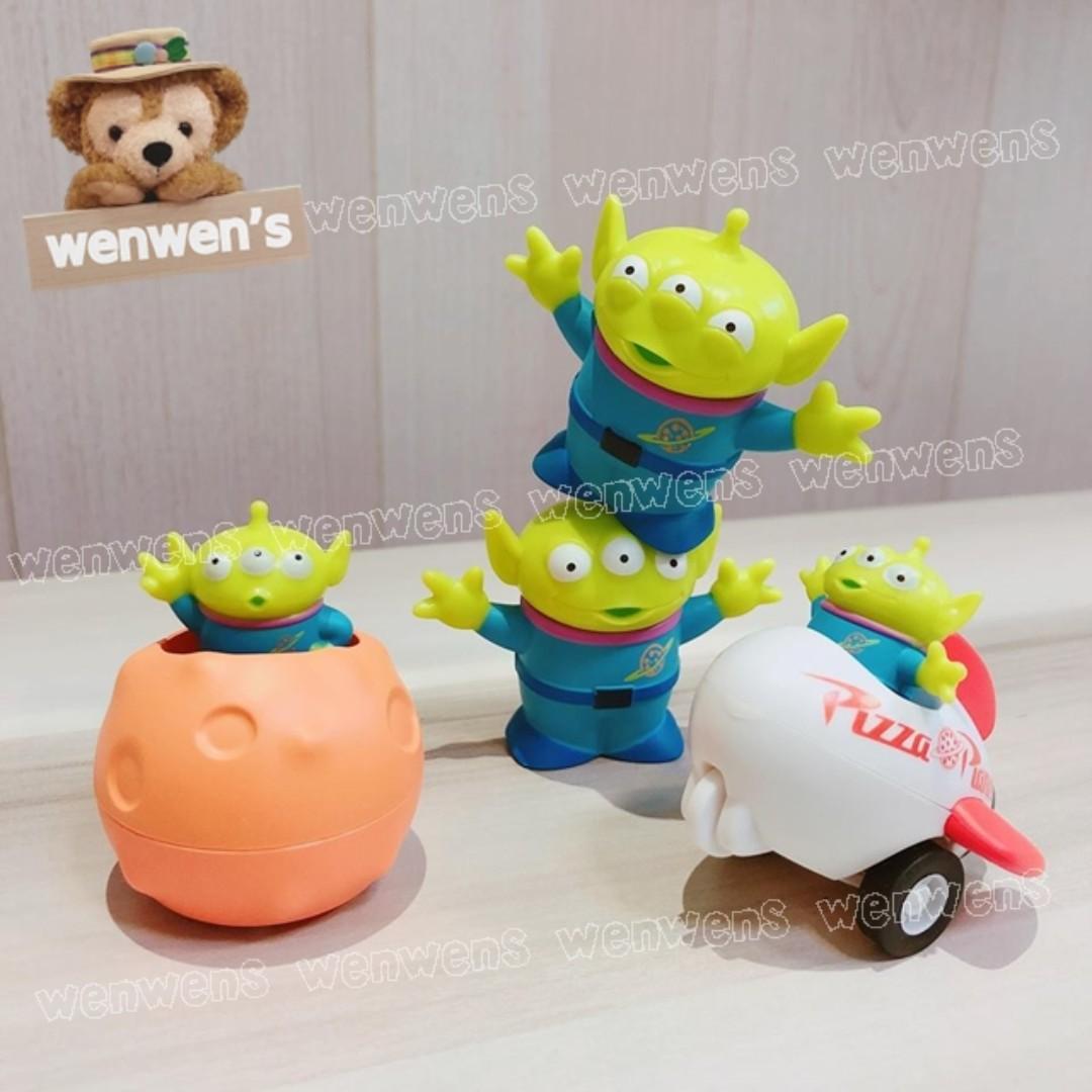 【Wenwens】日本帶回 日版 轉蛋 T-ARST 扭蛋 迪士尼 玩具總動員 三眼怪 車 迴力車 火箭 公仔 一套4款