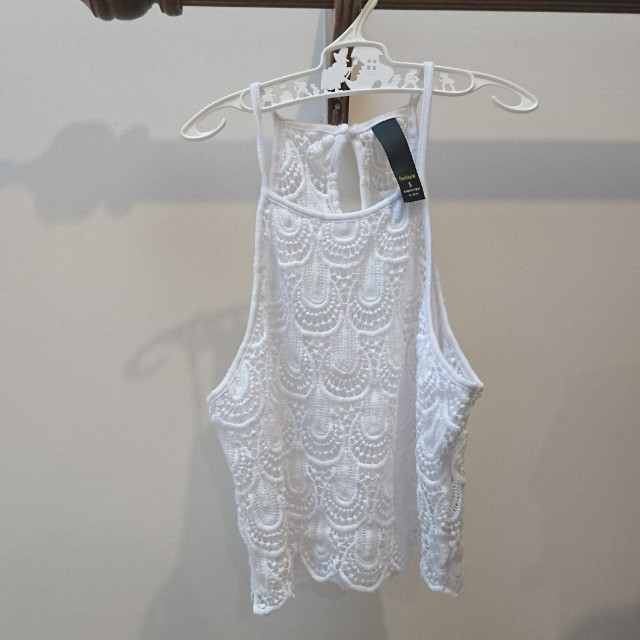 white lace crop top s