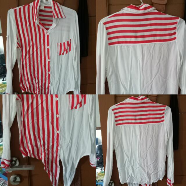 White Red Stripes Shirt