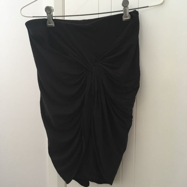 Witchery Black twist skirt