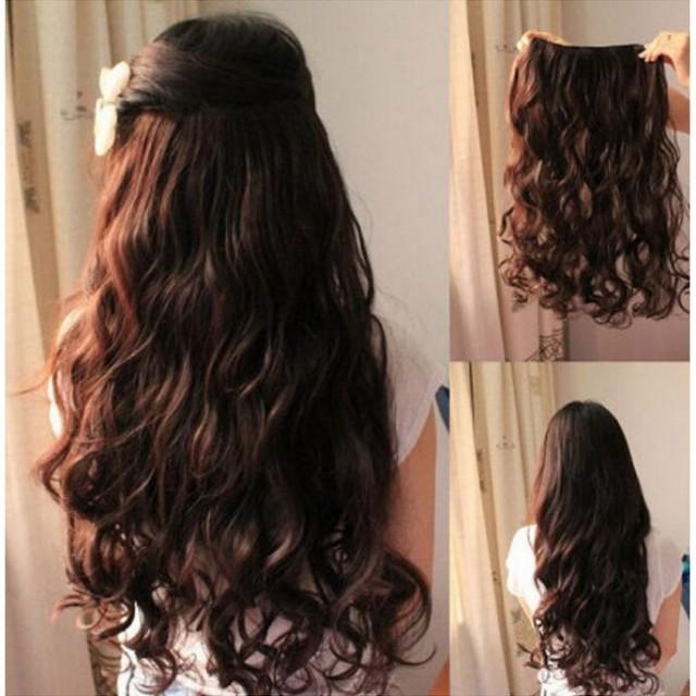Womens long wavy curly hair full wigs