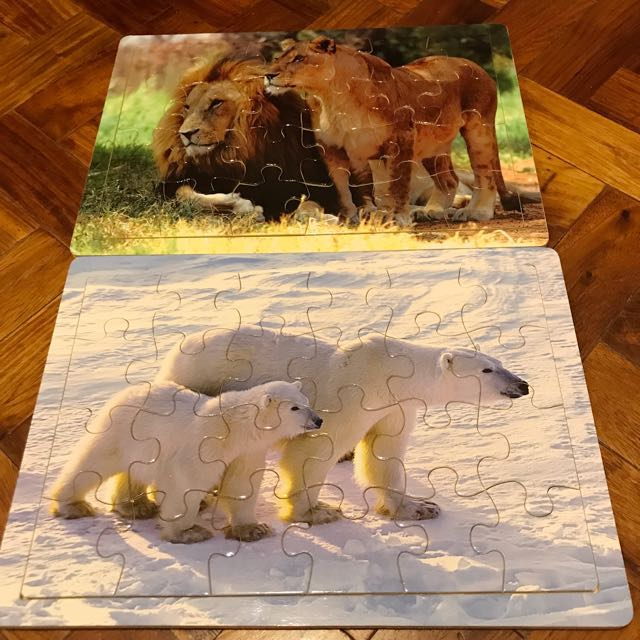 Wooden board puzzles