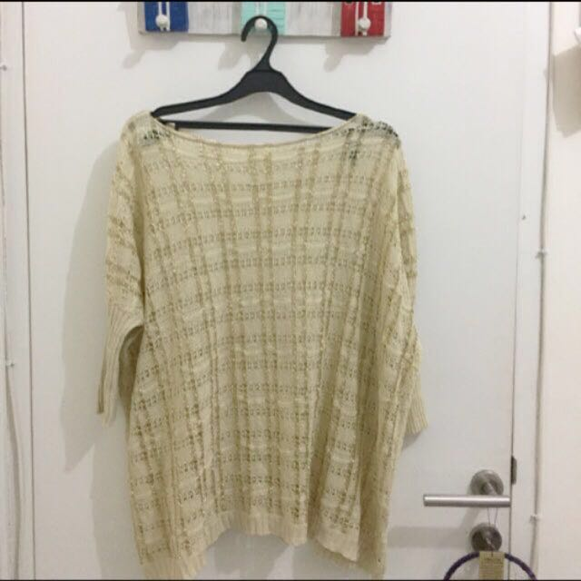 XSML Creme Gold - Size S (Fit to xl)