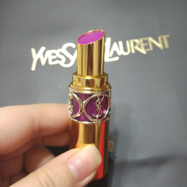 (二手)Ysl情挑誘光水唇膏 19紫紅激情