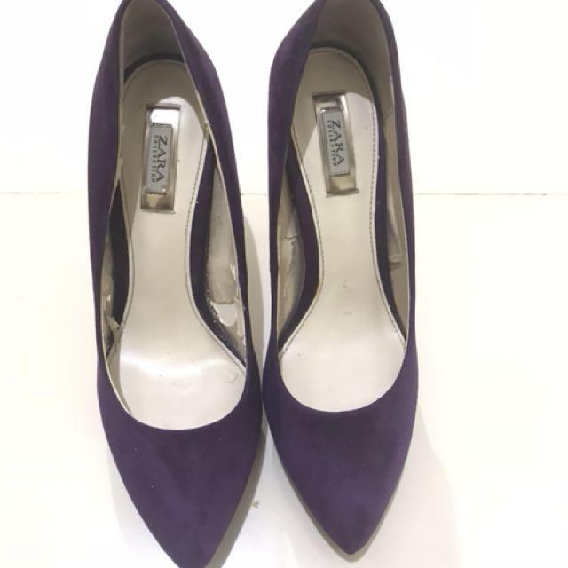ZARA Purple Heel