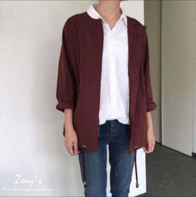 Zoey's 球型剪裁圓領拉鍊外套