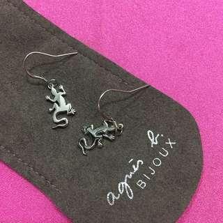 Agnes b 純銀耳環 earrings 蜥蜴