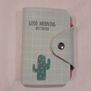 """ Goodmorning best for you"" Cactus Card Holder"