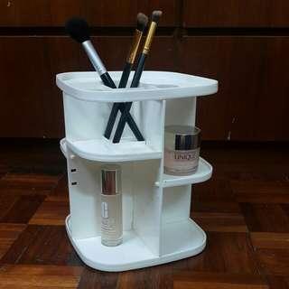 360 rotating makeup organiser shelf