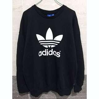 Adidas 基本款黑色大學T