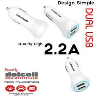 Car charger delcell 2A