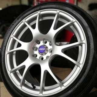 Wedsport 17 inch sports rim almera tyre 70%