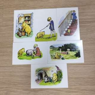 Winnie the Pooh postcards - set of 6