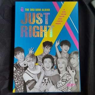 "GOT7 ""Just Right"" Album Unsealed"