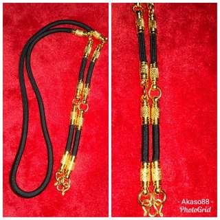Amulet black nylon with micron plated (5) hooks