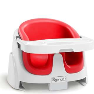 INGENUITY BABY BASE 2-in-1 seat booster with tray (poppy red)