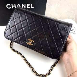 Chanel Vintage 黑色羊皮 Flap Bag