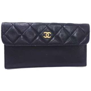 Authentic Chanel pouch Long Wallet clutch bag長銀包