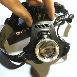 Dual LED (White+Blue LED) Rechargeable Fishing Hunting Headlamp