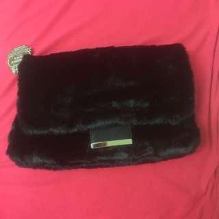 高級毛毛手袋:長33cmx20 cm