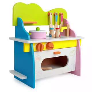(PO)⚡FREE GIFT⚡BN Wooden Small Kitchen Stove & Oven Toy Set