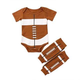 Rugby 🏈 Romper with matching leg warmer