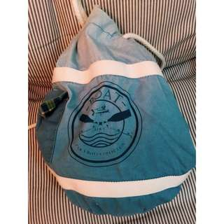 Zara帆布雙面 休閒背囊 Two Styles backpack.