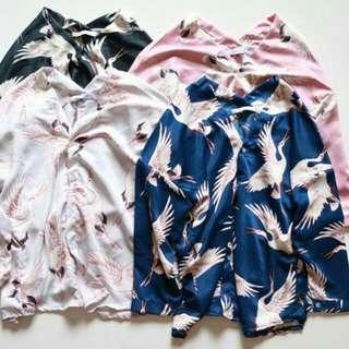 V-top ZARA Shirt Flamingo