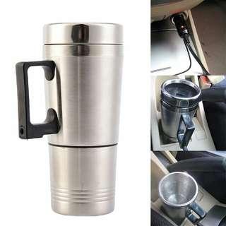 Stainless steel car mug charger/ hangat dan panas portable gelas mobil