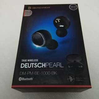 全新 (未開盒) Brand New (Unboxed) 藍牙無線入耳式耳機 DEUTSCHMACHT TRUE WIRELESS DEUTSCHPEARL DM-PM-BE-1000-BK (Upgraded Version)