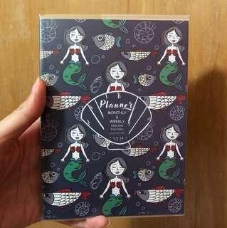 Mermaid monthly 2018 schedule book journal agenda planner diary