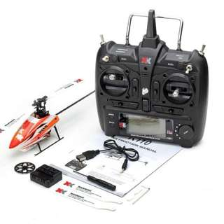 Rc Hellycopter pro xk110 singgle blade 6ch 2,4ghz