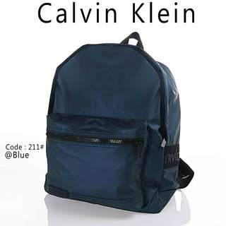 New Backpack CALVIN KLEIN 211#p  Quality : Semprem Material : Oxford Parachute Ready 2 colours :  - Black - Blue Double functions : Backpack & Totes Weight : 0,55 kg   H 190rb