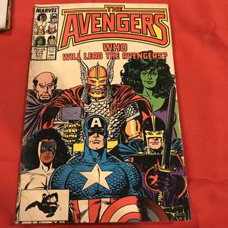Avengers #279 May 1987 F/VF Who Will Lead The Avengers?