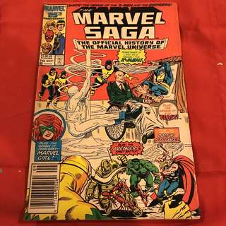 The Marvel Saga #10 Sept 1986 Comics