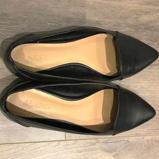 Aldo pointy black flats size 7.5