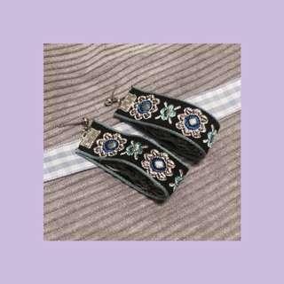 🚚 民族風垂墜刺繡🔸耳環